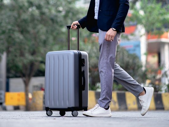 Man with Luggage Walking