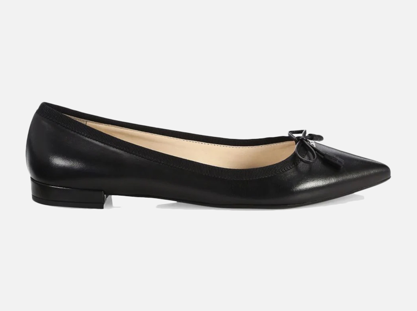 Prada Leather Ballet Flats.