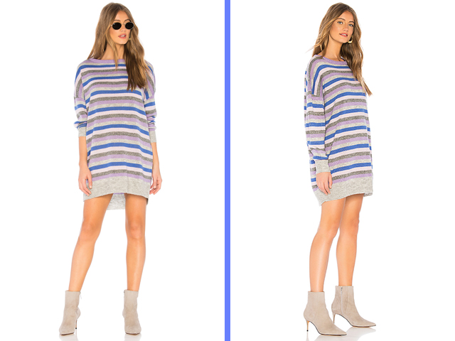 Revolve Tularosa Hamptons Dress in Lavender Stripe