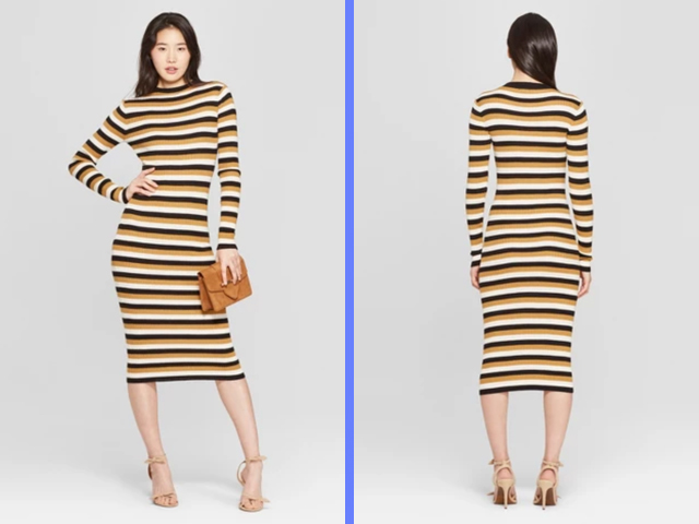 Striped Dress Women's Sweater Dress - Who What Wear Target