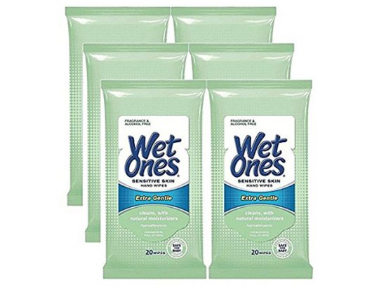 Wet Ones Sensitive Wipes for Face and Hands
