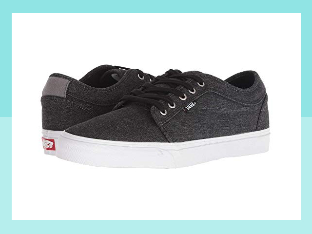 Zappos Vans Chukka Low Black Denim Men's