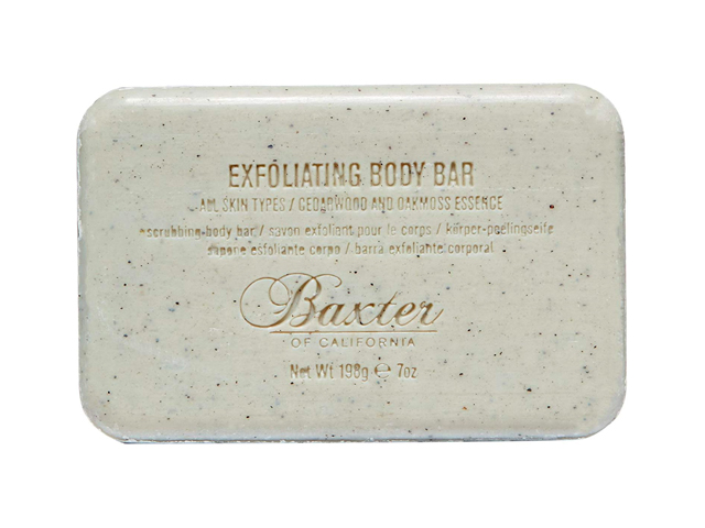 Baxter of California Men's Exfoliating Body Bar Soap, Cedarwood and Oak Moss Essence