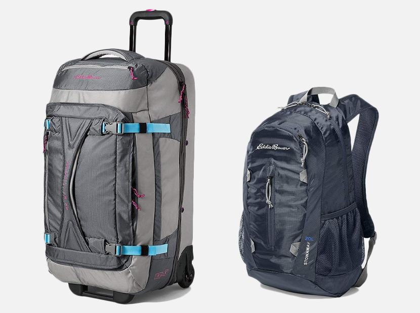 Eddie Bauer luggage.