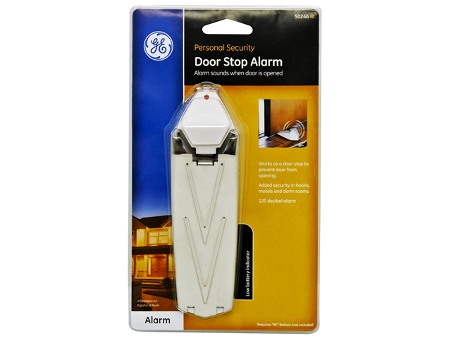 GE Door Stop Alarm, Extra Loud 120 Decibels, Low Battery Indicator