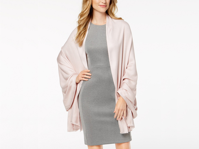 I.N.C. Solid Oversized Soft Wrap, Created for Macy's in Rose Gold