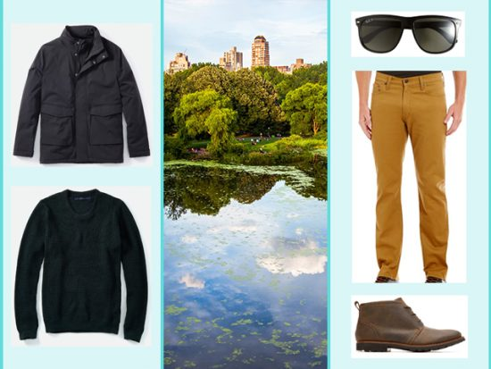 What to Wear Central Park or highline, Men's Outfit NYC