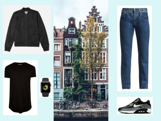 What to Wear for Amsterdam Bike Tour, Men's Outfit