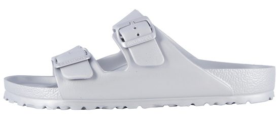 Women's Metallic Silver Birkenstock Arizona Essentials