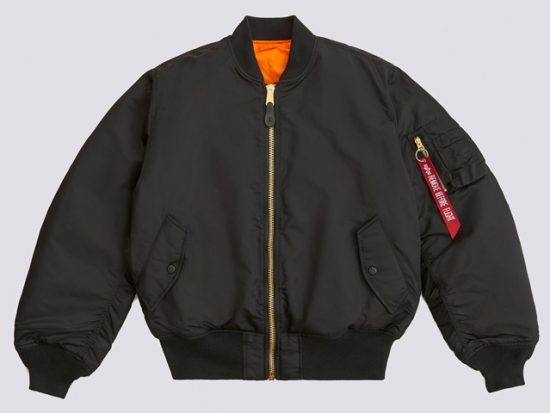alpha industries ma-1 slim fit bomber jacket