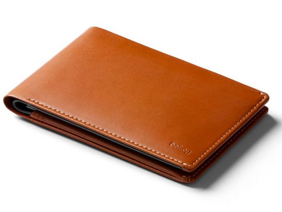 Bellroy Leather Travel Wallet Cararmel - RFID