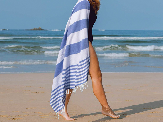 Club Kokomo Turkish Beach Towel - Eco Friendly Quick Dry Towel