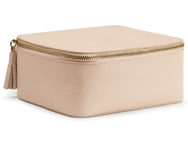 Cuyana Leather Jewelry Case in Pink