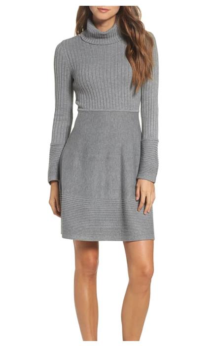 Gray sweater dress by Eliza J