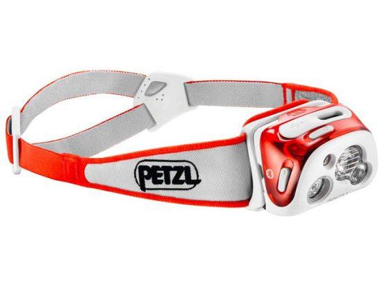 PETZL - REACTIK+ Headlamp, 300 Lumens, Bluetooth Enabled, Orange