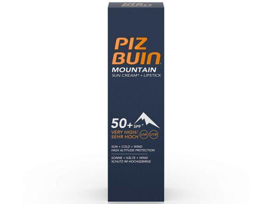 Piz Buin Mountain Suncream SPF50 and Lipstick SPF30