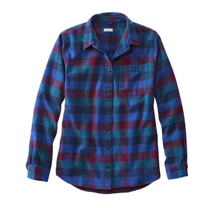 Blue and Purple Flannel Shirt from L.L. Bean
