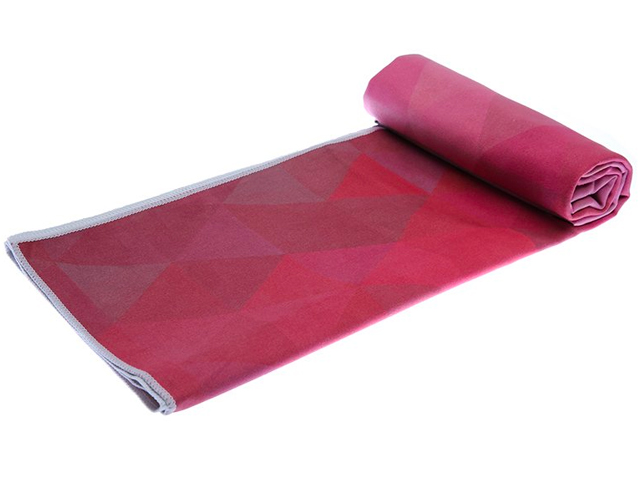 The Tribeca Sand Hot Yoga Towel. Eco-Friendly, Mat-Sized, Lightweight