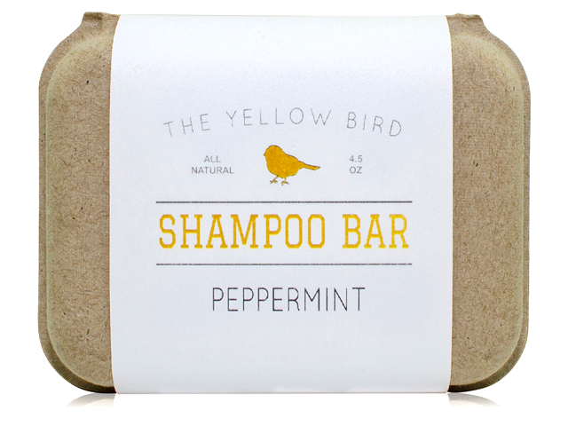 The Yellow Bird Peppermint Shampoo Bar Soap