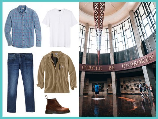 What to Wear Country Music Hall of Fame Nashville, Men's Outfit