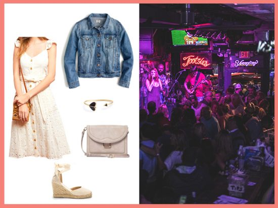 What to Wear Live Music Tootsies Nashville, Women's Outfit