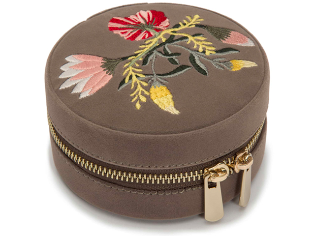 Zoe Round Travel Jewelry Case by WOLF