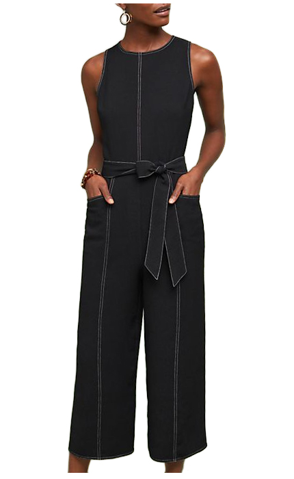 Anthropologie Colleen Stiched Jumpsuit