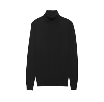 Banana Republic Stretch-Cotton Turtleneck Sweater