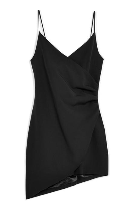 Club L London Mini Asymmetric Cami Strap Mini Dress