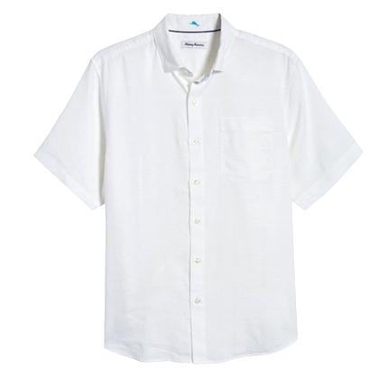 Costa Capri Classic Fit Short Sleeve Linen Blend Button-Up Shirt TOMMY BAHAMA.