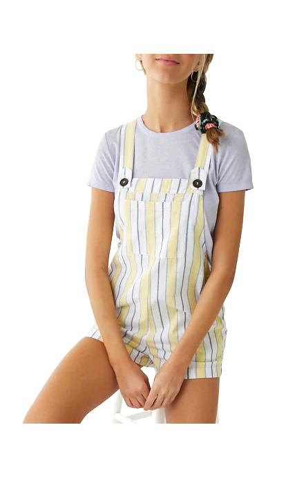 Forever21 Multicolor Striped Overall Romper