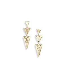 GORJANA Luca Tiered Triangle Drop Earrings