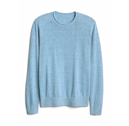 Gap Men's Crewneck Pullover Sweater in Linen-Cotton