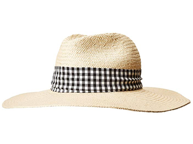 Hat Attack Shoshanna Collaboration Lucia Sun Hat with Gingham Trim