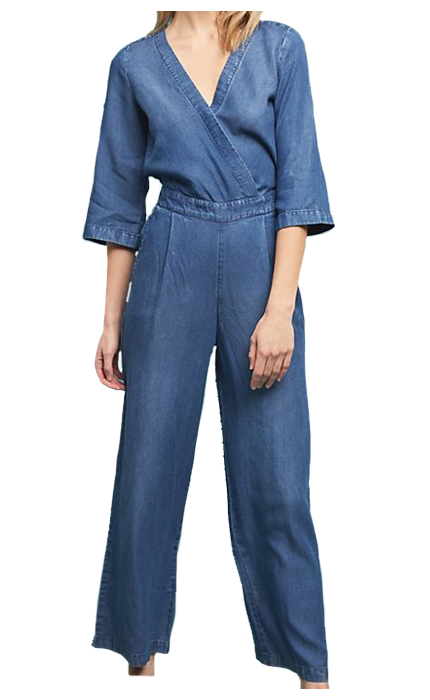 Kachel x Anthropologie Women's Surplice Chambray Jumpsuit