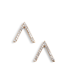 Little Stud Crystal Chevron Stud Earrings UNCOMMON JAMES BY KRISTIN CAVALLARI