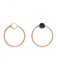 Mango Neutral Territory Stone hoop earrings