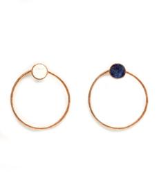 Mango Neutral Territory Stone hoop earrings