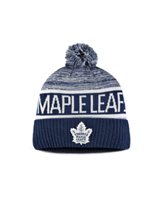 Men's Toronto Maple Leafs Fanatics Branded Blue Authentic Pro Rinkside Goalie Cuffed Knit Hat With Pom