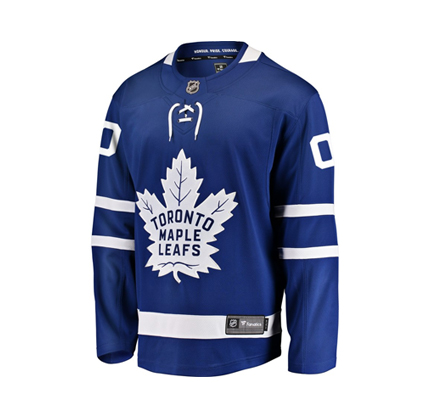Men's Toronto Maple Leafs Fanatics Branded Blue Home Breakaway Custom Jersey