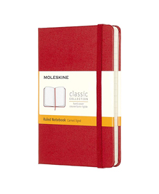 Moleskine Classic Hard Cover Notebook, Ruled, Pocket Size