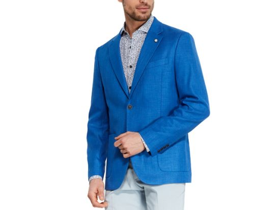 NAUTICA Bright Blue Jensen Sport Coat