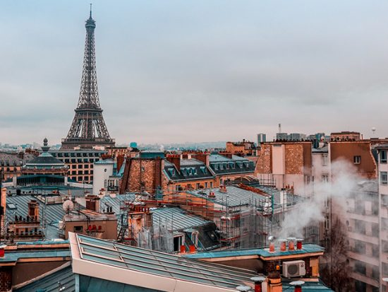 Paris Rooftop and Eiffel Tower View