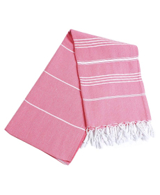 Pestemal Turkish Bath Towels 37x70 %100 CottonTM by Cacala Pink