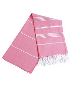 Pestemal Turkish Bath Towels 37x70 %100 CottonTM by Cacala Pink