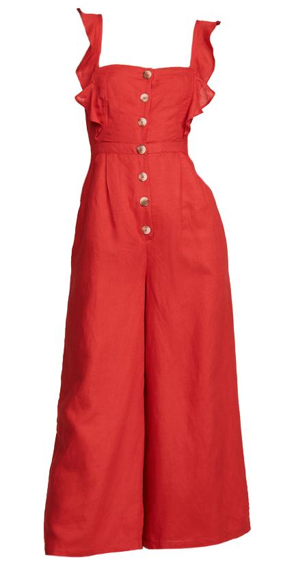 Red Carter Allison Jumpsuit