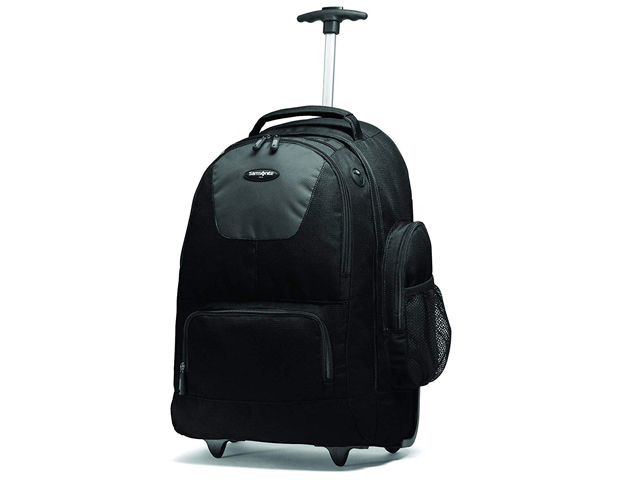Samsonite Wheeled Backpack, Black/Charcoal, One Size