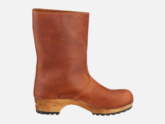 Sanita Puk' Milled Leather Clog Boots.