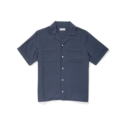 Saturdays Cameron Dobby Short Sleeve Shirt Midnight