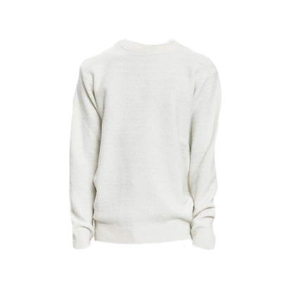Soulland Cassidy Herringbone Sweater in Off-White
